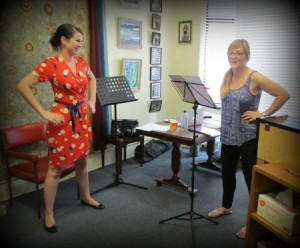 Amy Radford in action at Stage Fright Workshop
